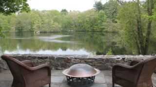 , By the lake backyard