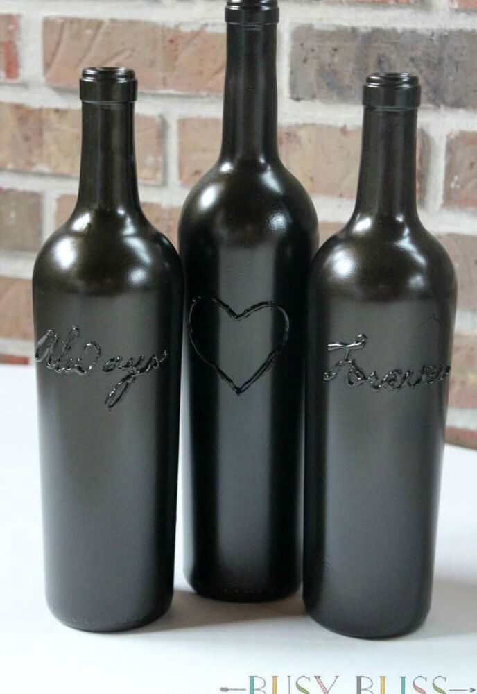 decorated glass bottles. Decorate them for Valentine s day Drink up  Here 14 Awesome Things You Can Do With Your Glass