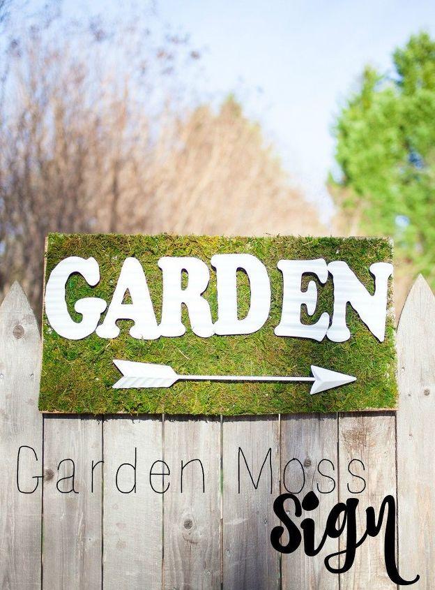 garden moss sign, crafts