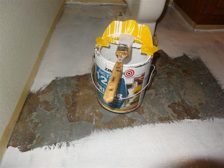 Bathroom Floor Redo Hometalk - Redo bathroom floor