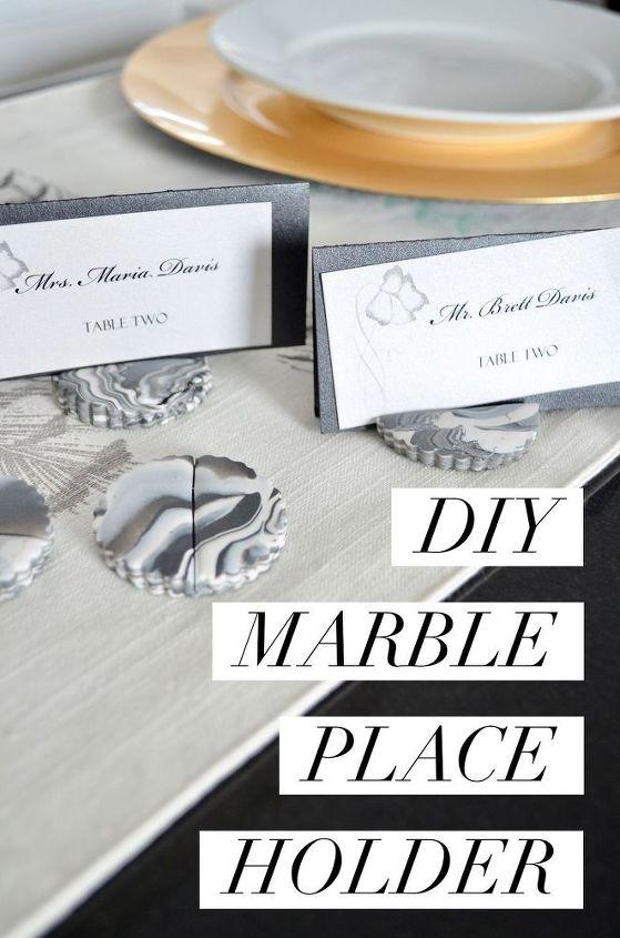 diy marble place holders, flooring, tiling