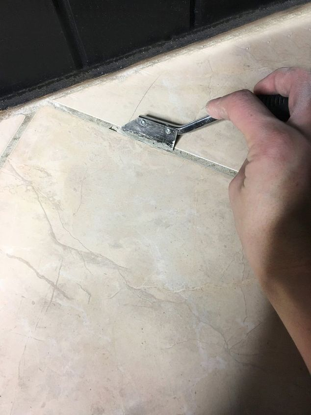 fix cracked and missing tile grout, cleaning tips, tiling