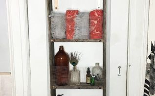 repurposed ladder into shelf, shelving ideas