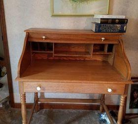 Rolltop Desk Makeover, Painted Furniture