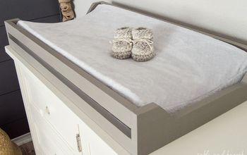 easy diy nursery changing pad tray, bedroom ideas