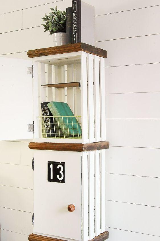 How to Build DIY Wood Crate Lockers | Hometalk