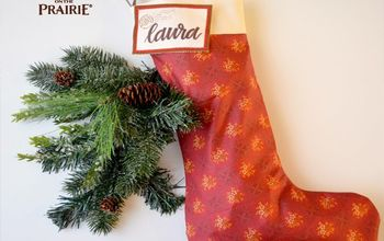 homemade diy little house on the prairie stockings, Gorgeous but simple homemade stocking
