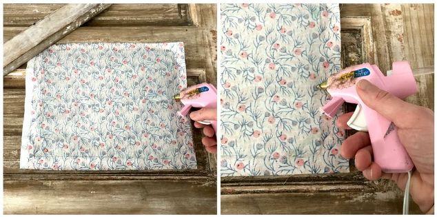 framed desk organizer using gorgeous joann fabric, organizing, painted furniture, reupholster