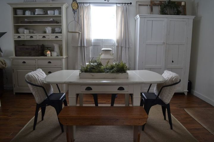 Sensational Dining Table Bench Refinish With Country Chic Paint Hometalk Gamerscity Chair Design For Home Gamerscityorg