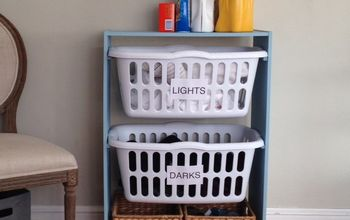 laundry basket station, crafts