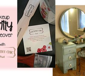 Makeup Vanity Makeover With Country Chic Paint, Bathroom Ideas