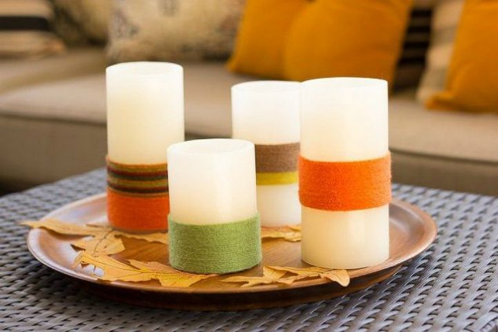 s these are the led candle solutions you ve been waiting for, This fabulous fall light centerpiece