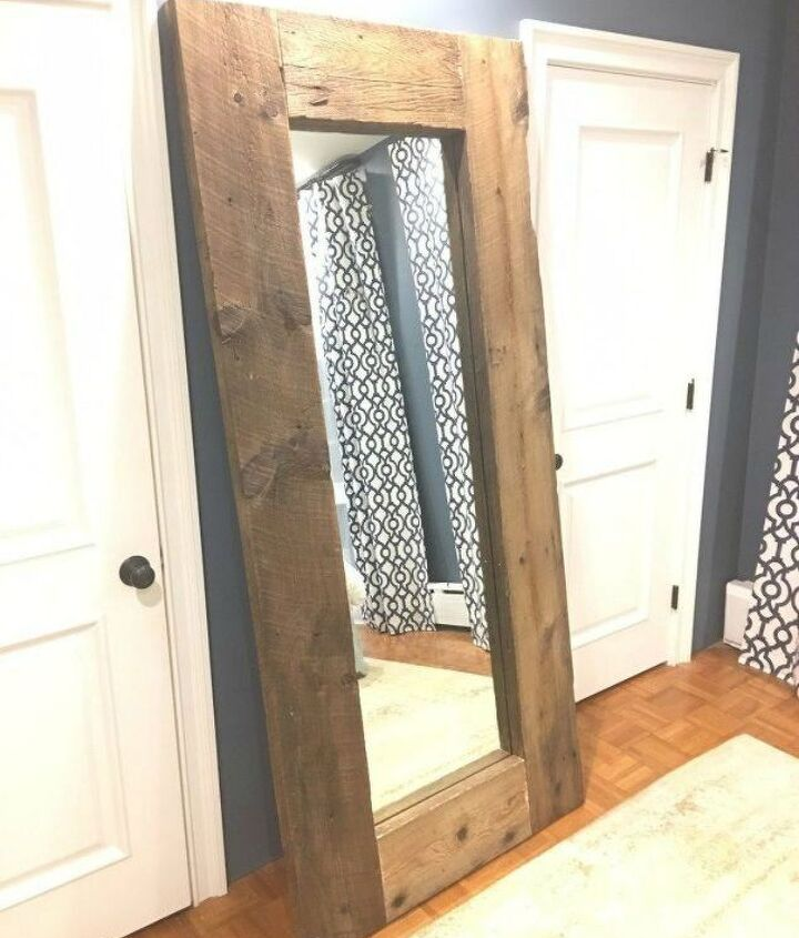 s transform your standing mirror with these 11 stunning ideas, home decor, Copy West Elm for a giant leaning mirror