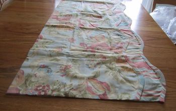 make a pattern from a curtain valance, home decor, window treatments