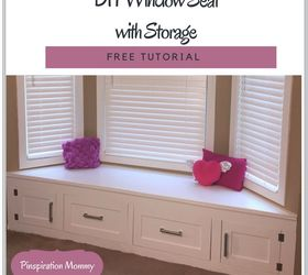 Window Seat Part - 46: Diy Built In Window Seat With Drawer And Cabinet Storage, Closet, Kitchen  Cabinets,