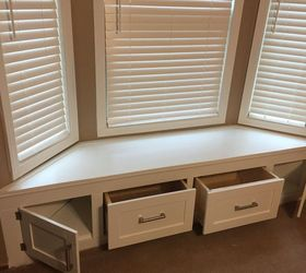 Diy Built In Window Seat With Drawer And Cabinet Storage, Closet, Kitchen  Cabinets,