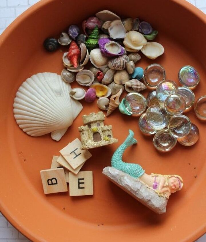 mermaid fairy garden craft, crafts, gardening
