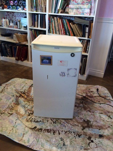 how to hide an ugly or used to be ugly fridge in plain site, appliances, how to