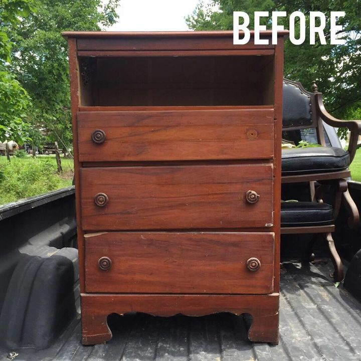 chest of drawers before and after, painted furniture
