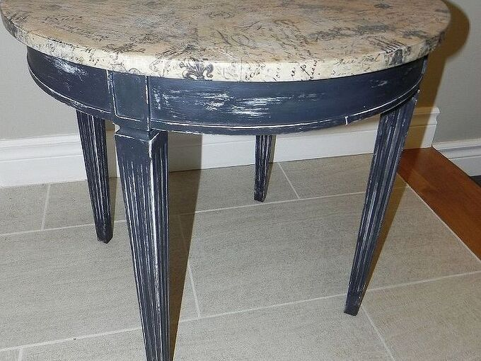 french drum style table, painted furniture