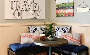 how to create a breakfast nook using ikea benches, how to, outdoor furniture
