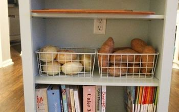 Extend Your Kitchen Island With an Open Bookshelf
