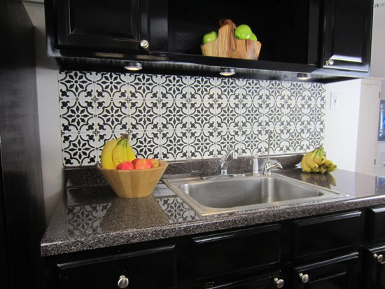 How To Stencil A Faux Tile Backsplash | Hometalk