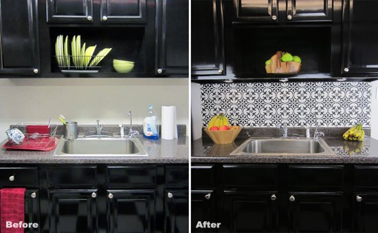 How To Stencil A Faux Tile Backsplash | Hometalk