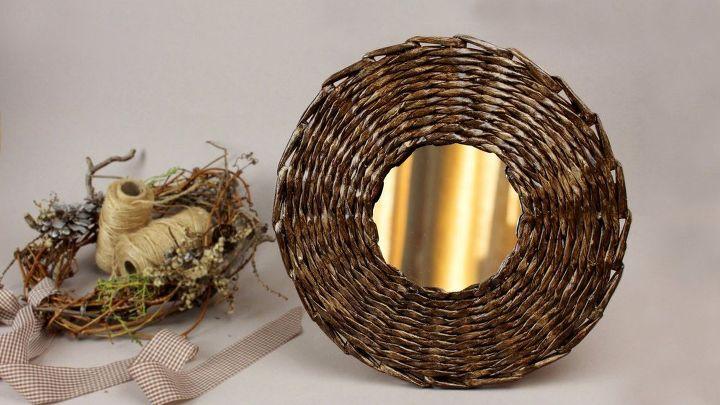 DIY Decorative Mirror Frame From Paper Tube | Hometalk