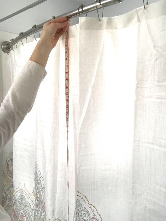 shower curtain valance, bathroom ideas, home decor, window treatments