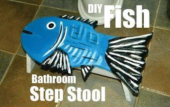 DIY Fish Shaped Bathroom Step Stool