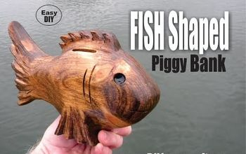 diy fish shaped piggy bank