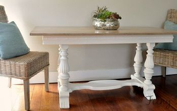 Trash to Treasure Dining Table Makeover