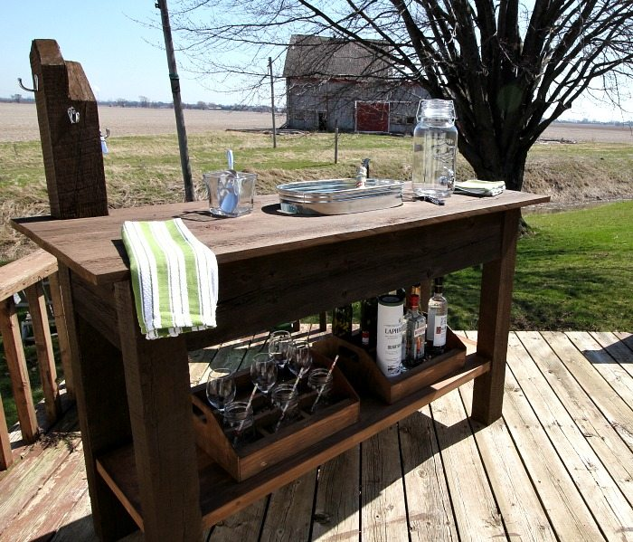 Outdoor Living Diy Rustic Barn Wood Beverage Center Hometalk