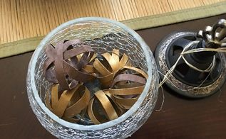 upcycled mini decorative balls in minutes using toilet paper rolls, bathroom ideas
