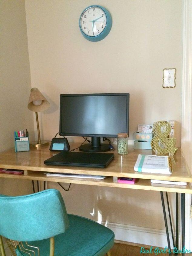 e copycat hairpin leg desk, painted furniture