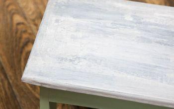 How To Create a Faux Concrete Finish on Furniture