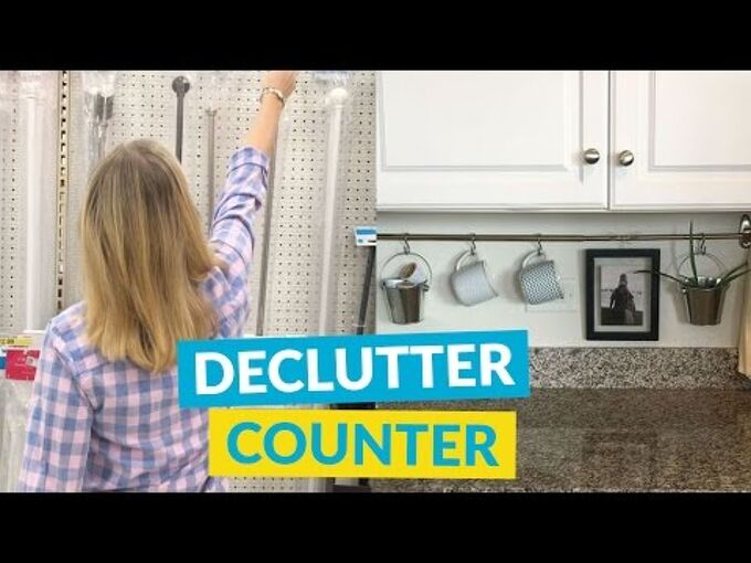 declutter your kitchen counters, countertops, kitchen design, organizing