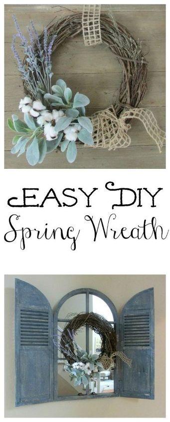 easy diy spring wreath, crafts, wreaths