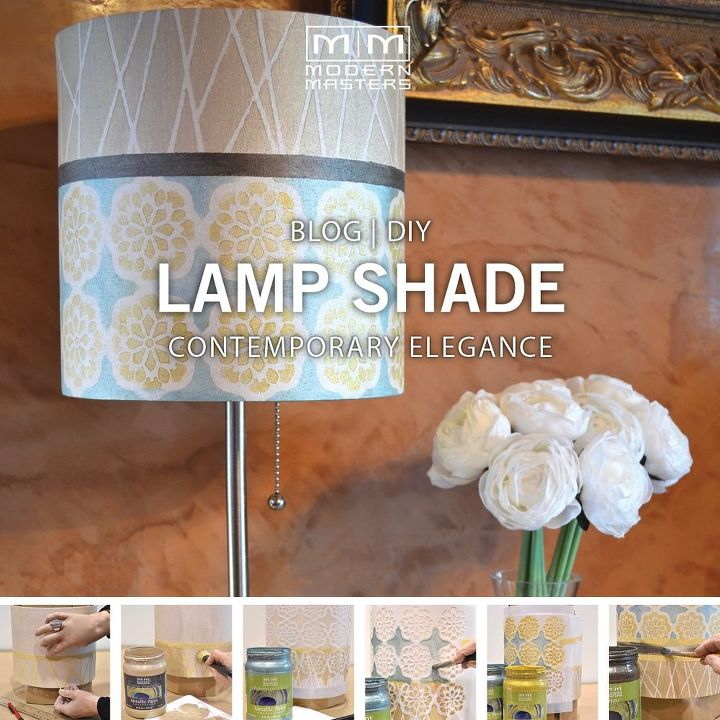 Diy How To Fabric Lampshade Makeover Reupholster