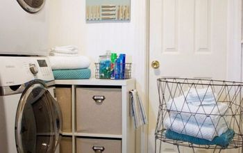 an average cubby turned into a fabulous laundry room cart, laundry rooms