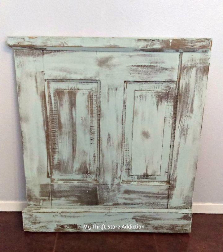 diy reclaimed wood door faux fireplace insert, doors, fireplaces mantels
