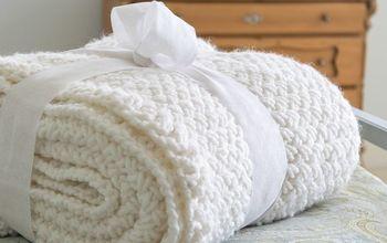 Knit a Diagonal Basket Weave Blanket