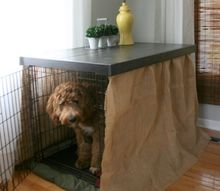diy dog kennel table top, painted furniture