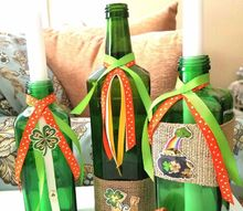 st patrick s day decor with recycled bottles, home decor, seasonal holiday decor, valentines day ideas