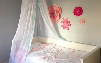 No-Sew Hula Hoop Canopy With Pom Poms