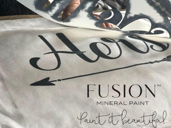 ikea hack painting fabric custom diy pillow cases, reupholster