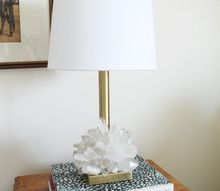 crystal embellished lamp, lighting