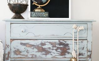 balayage inspired painting and sanding furniture, painted furniture