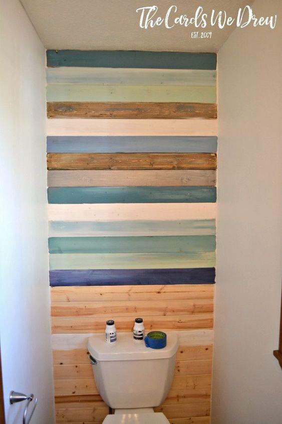 diy coastal planked wall